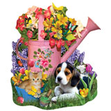 Spring Watering Can 1000 Piece Shaped Jigsaw Puzzle