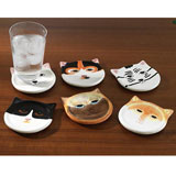 Cat Coasters Set of 6