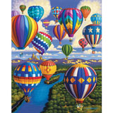 Balloon Festival 1000 Piece Shaped Jigsaw Puzzle
