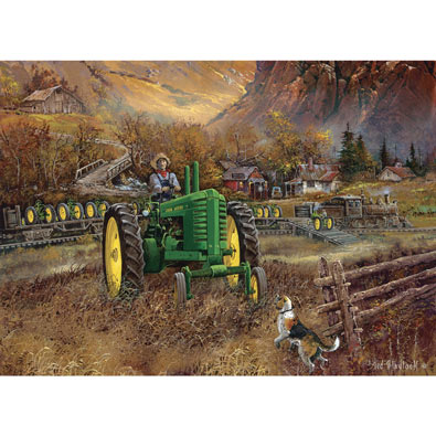 Autumn In Deere Country 1000 Piece Jigsaw Puzzle