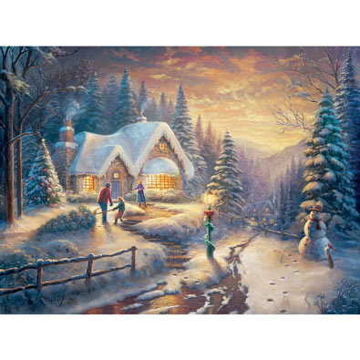 Country Christmas Homecoming 1000 Piece Jigsaw Puzzle