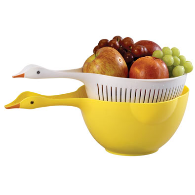 Duck Strainer and Bowl
