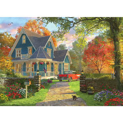 Blue Home 1000 Piece Jigsaw Puzzle