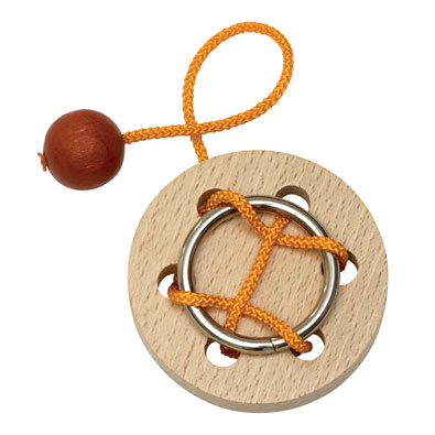Trapped Wooden String Puzzle