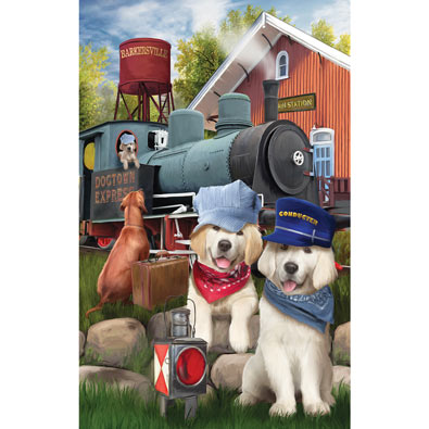Dog Town Express 300 Large Piece Jigsaw Puzzle