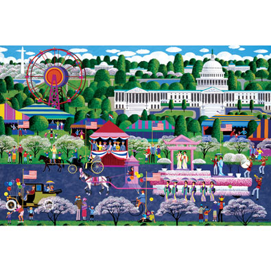 Cherry Blossom Parade 300 Large Piece Jigsaw Puzzle