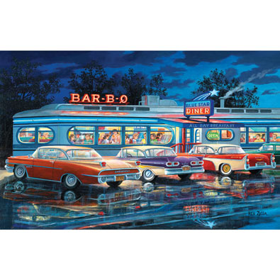 At the Bar-B-Q 300 Large Piece Jigsaw Puzzle