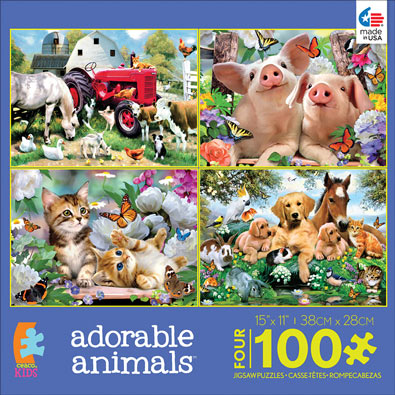 Adorable Animals 4 in 1 Multipack Set