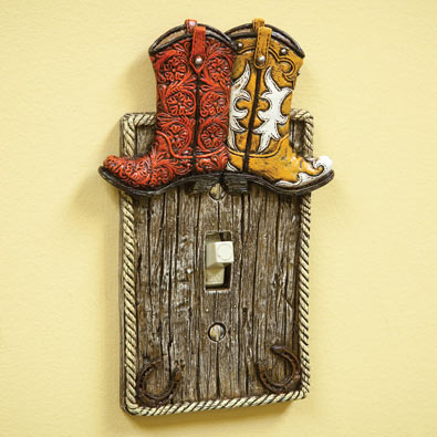 Cowboy Boot Light Switches- Single Light Switch