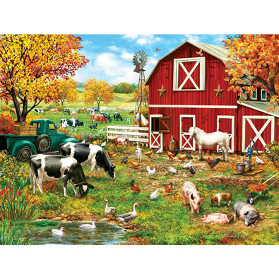 A Day on the Farm 300 Large Piece Jigsaw Puzzle