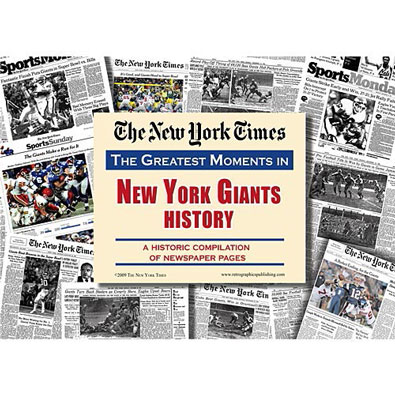 New York Times Greatest Moments Newspaper : New York Giants