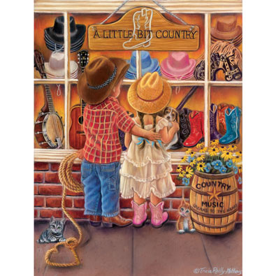 A Bit of Country 300 Large Piece Jigsaw Puzzle
