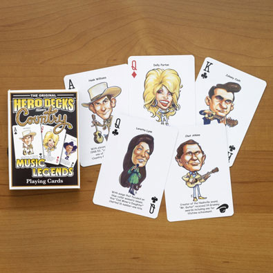 Country Music Legends Playing Cards