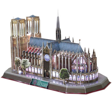 3D Notre Dame Cathedral Puzzle