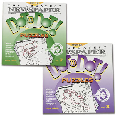 Set of 2: Newspaper Dot-To-Dot Books - Volumes 7 & 8