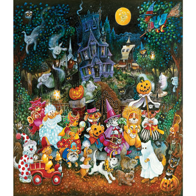 Trick or Treat Dogs 300 Large Piece Jigsaw Puzzle