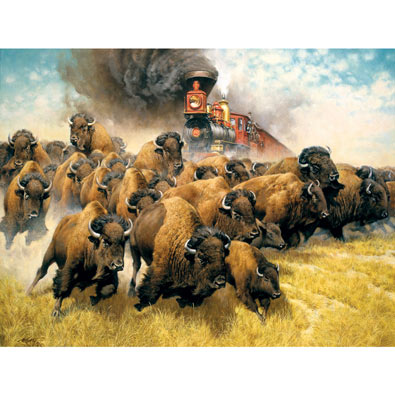 Coming of the Iron Horse 500 Piece Jigsaw Puzzle