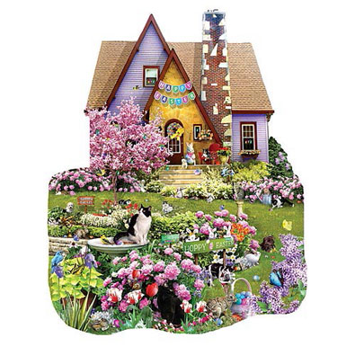 Easter on The Lawn 1000 Piece Jigsaw Puzzle