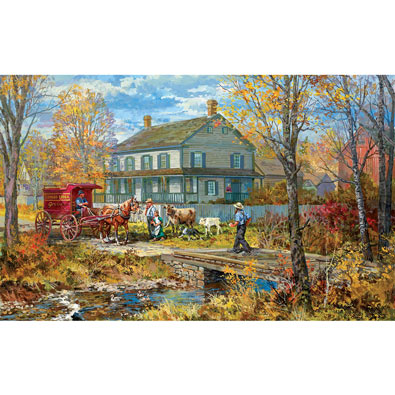 Autumn at the Schneider's House 300 Large Piece Jigsaw Puzzle