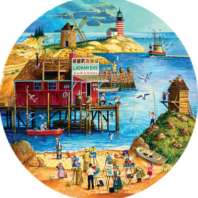 Fresh Lobster 500 Piece Round Jigsaw Puzzle