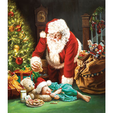 Cookies for Santa 1000 Piece Jigsaw Puzzle