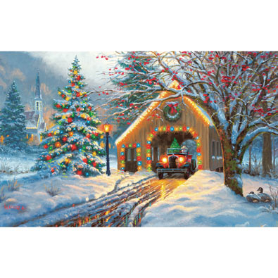 Covered Bridge 300 Large Piece Jigsaw Puzzle