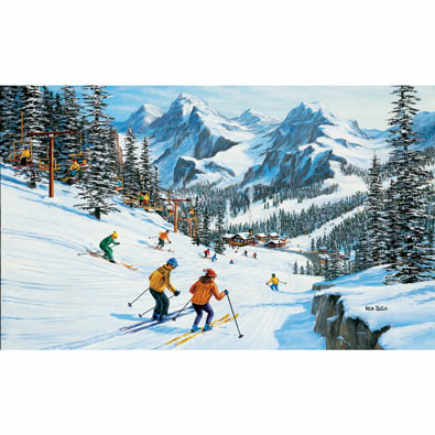 Beginner's Slope 550 Piece Jigsaw Puzzle