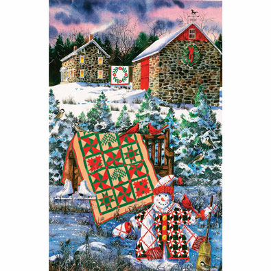 Christmas Quilt 1000 Piece Jigsaw Puzzle