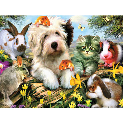 Furry Friends 550 Piece Jigsaw Puzzle