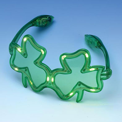 Flashing Shamrock Glasses