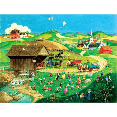 The Wizard Of Oz Kinkade 1000 Piece Jigsaw Puzzle