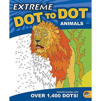 Animals-Extreme Dot To Dot Book