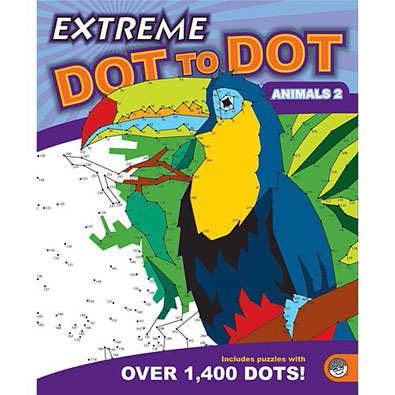 Animals 2-Extreme Dot To Dot Book