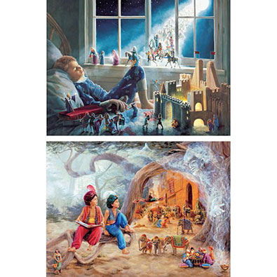 Set of 2: Dream Time 1000 Piece Jigsaw Puzzles