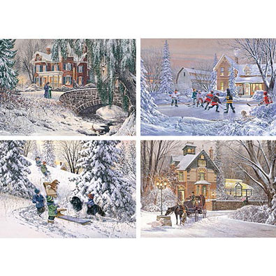 Set of 4: D.R Laird 1000 Piece Jigsaw Puzzle