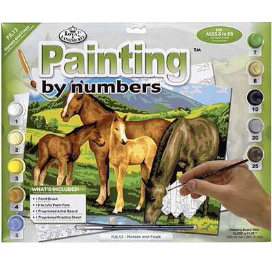 Horses And Foals-Painted by Numbers Kit