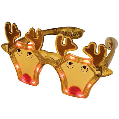 Reindeer Christmas LED Glasses