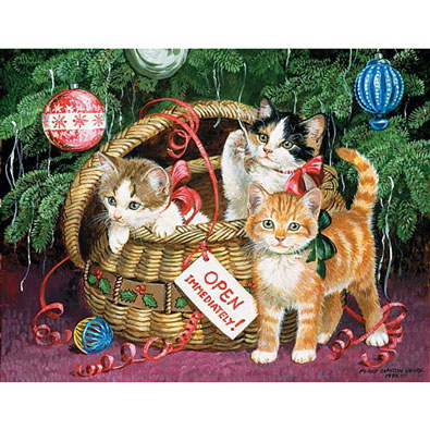 Holiday Basket 300 Large Piece Jigsaw Puzzle