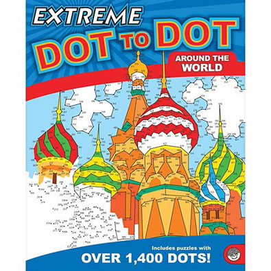 Around the World-Extreme Dot to Dot Book