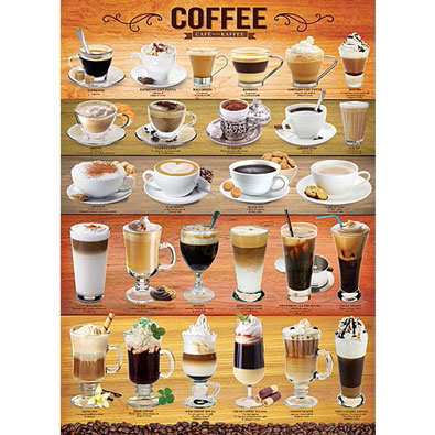 Coffee Puzzle 1000 Piece Jigsaw Puzzle