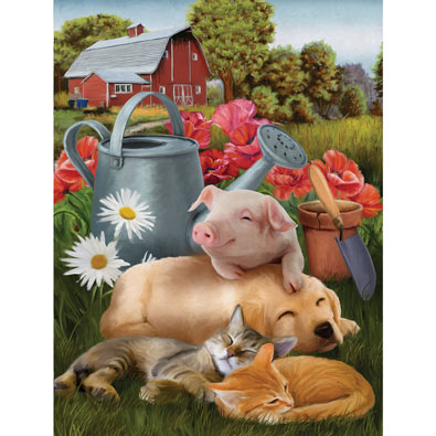 Lazy In The Sun 300 Piece Jigsaw Puzzle