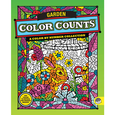 Garden-Color by Number Book