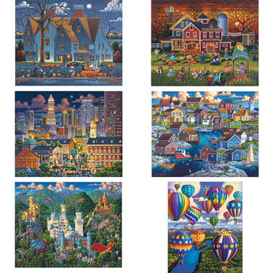Set of 6: Eric Dowdle 1000 Piece Jigsaw Puzzles