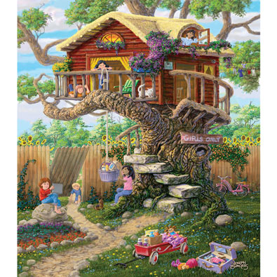 Girl's Clubhouse 300 Large Piece Jigsaw Puzzle