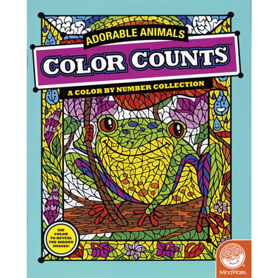 Adorable Animals - Color Counts Book