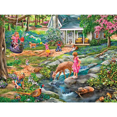 Blue Bells Forest 300 Large Piece Jigsaw Puzzle