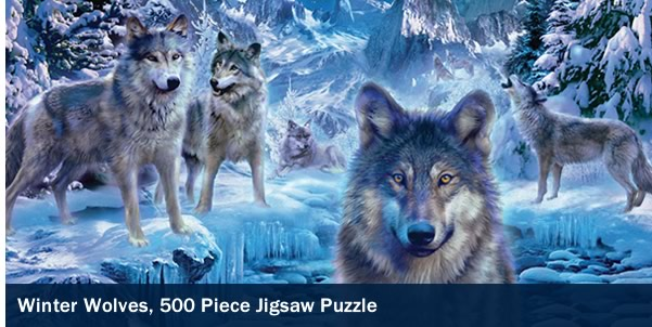 Winter Wolves 500 Piece Jigsaw Puzzle