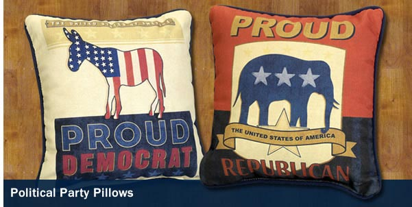 Political Party Pillows