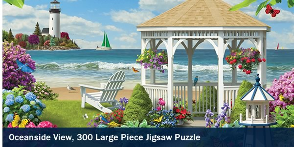 Oceanside View 300 Large Piece Jigsaw Puzzle