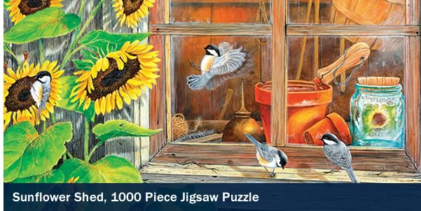 Sunflower Shed 1000 Piece Jigsaw Puzzle